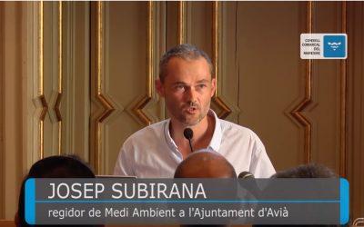Josep Subirana, regidor de Medi Ambient a l'Ajuntament d'Avià